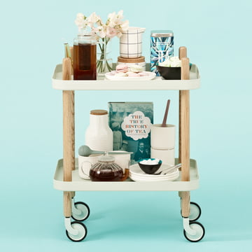 Normann Copenhagen - Block Mobile Side Table with Tea Egg