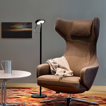 Belux - U-Turn floor lamp, LED, black, black