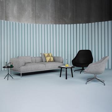 Hay - Bjørn Sofa 2-seater, padded frame, Remix 123