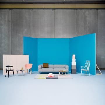 Hay - Bjørn Sofa 2-Sitzer, seater, padded frame, Remix 123
