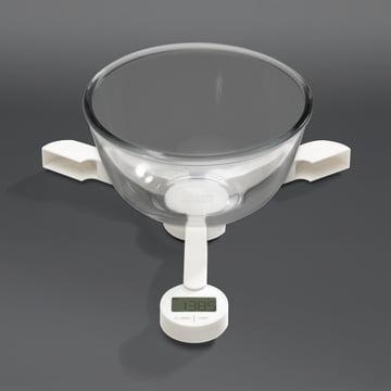 Joseph Joseph - TriScale, white - with bowl