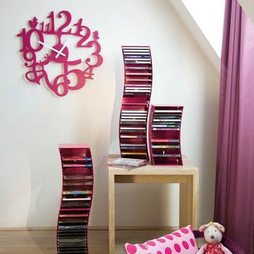 Koziol - [pi:p] wall clock, pink