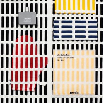 Artek - Siena oven glove, fabric napkin, paper napkin