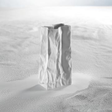 Rosenthal - paper bag vase, white - sand