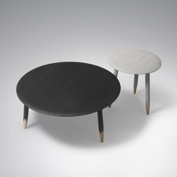 &tradition - Hoof Table, large black, small, grey