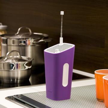 Sonoro - CuboGo London DAB+ radio, white / purple - kitchen