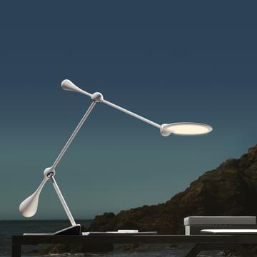Klein & More - Trapeze LED table lamp, large, white