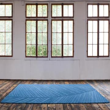 Ruckstuhl - Palm Leaf Carpet, water blue