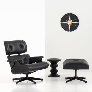 Vitra - Petal Clock, black / brass