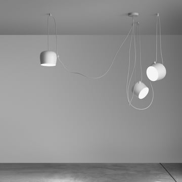 Flos - AIM Pendant Lamp Set, white, ambience