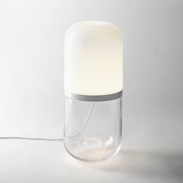 Design House Stockholm - Demi lamp, large, white / transparent
