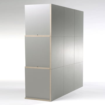 Jonas Jonas - Tri modules shelf, grey - backside