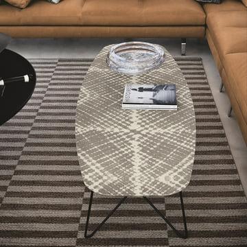 Zanotta - Ink side table, 160, Raute, mud