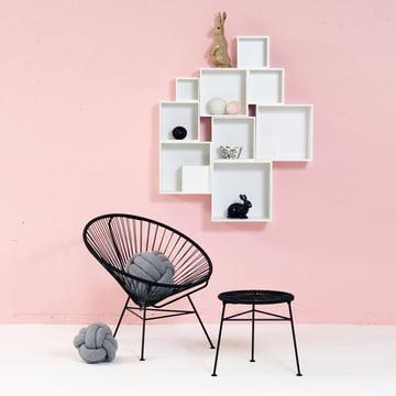 OK Design - Babushka Boxes, white, Condesa Chair, black
