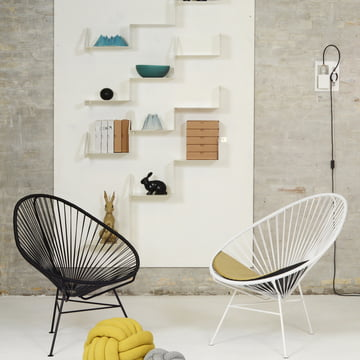 OK Design - The Acapulco Chair, black, white