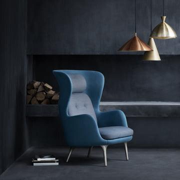 Fritz Hansen - Ro Armchair, blue