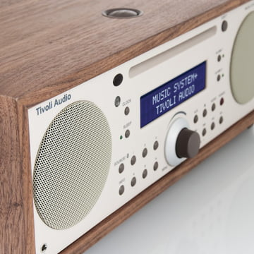 Tivoli Audio - Music System+ BT, walnut / beige - side