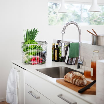 Wire Basket with Handle for the Kitchen