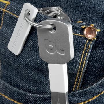 Bluelounge - Kii USB Adapter, Lightning silver - pocket