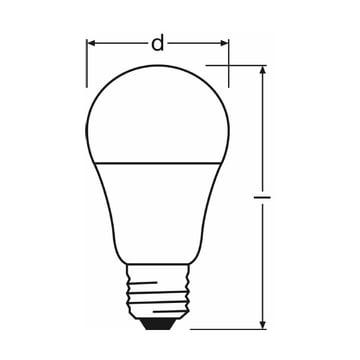 Osram - LED Superstar Classic A 60 advanced, E27 - graphic