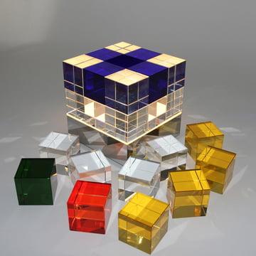 Tecnolumen - Cube Light, transparent, blue - single cubes