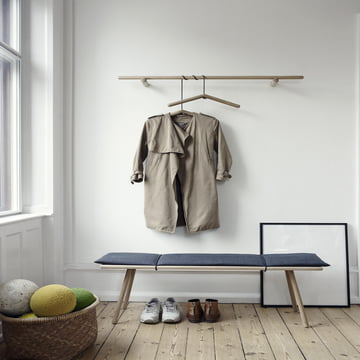 Skagerak - Georg bench, coat rack, clothes hangers, oak wood