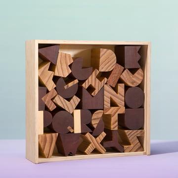 Areaware - Alphabet Blocks - with box