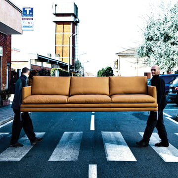 Zanotta - William Sofa, light brown leather - outdoor
