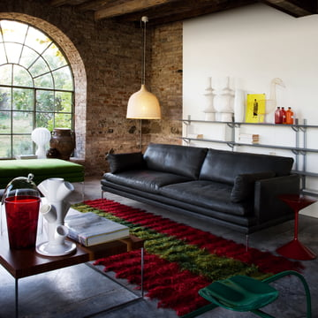Zanotta - William Sofa, black leather - living room