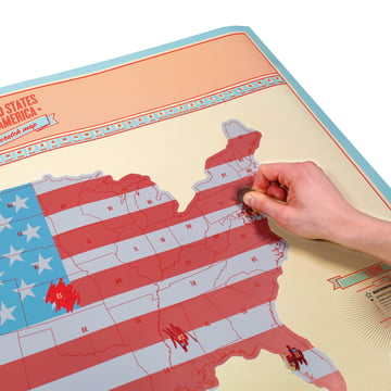 Luckies - Scratch Map USA - partly rubbed