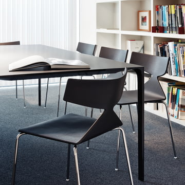 Arper - Saya Chair, steel legs, black