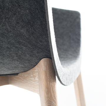 Conmoto - Chairman, oak, grey - Detail, front edge
