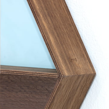 Ferm Living - Wall Wonder Mirror, Smoked oak wood