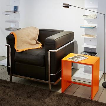 wb form - Ulmer Stool, shiny orange