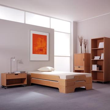 Müller Möbelwerkstätten - Bedside table Modular, beech wood