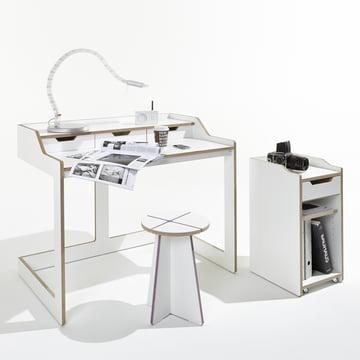 Müller Möbelwerkstätten - Plane Secretary Conrainer, open