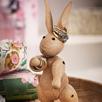 Kay Bojesen Denmark - wooden rabbit - jewelry