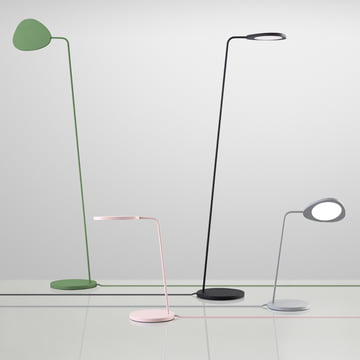 Muuto - Leaf table and floor lamp - group