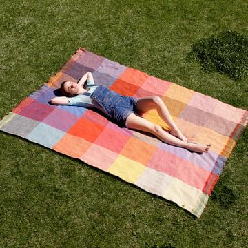 Zuzunaga - Squares woollen blanket