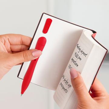 Bobino - Slim Pen, red - in notebook