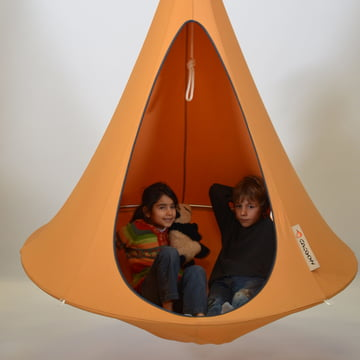 Cacoon - Single Hanging Chair, mango orange