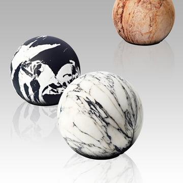 Baleri Italia - Tattoo pouf Carrara marble