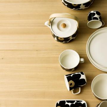Marimekko - Unikko tableware, black