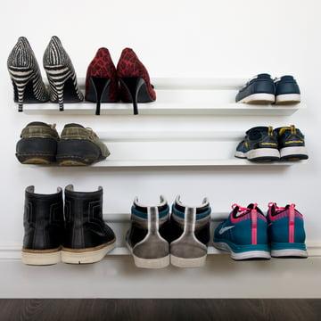 j-me -Horizontal shoe rack, white