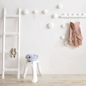 Zieta - Drab coat rack, white