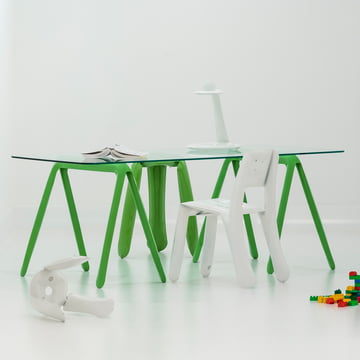 Zieta - Koza table trestles (set of 2), green