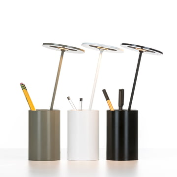 Formagenda - E.T. Table Lamp - white, grey, black - pens