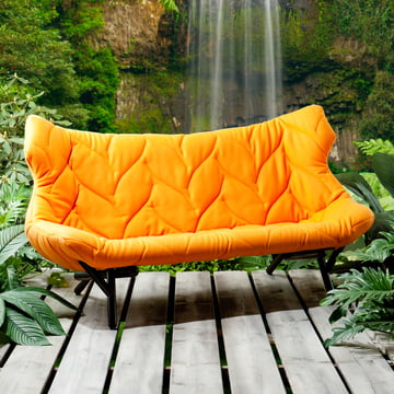 Kartell - Foliage Sofa, orange, black legs