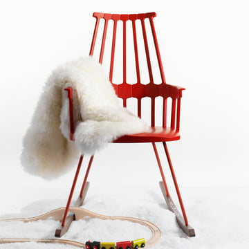 Kartell - Comback Rocking Chair, red