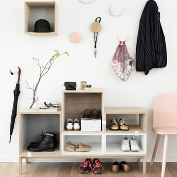 Muuto - Stacked shelving system - entrance